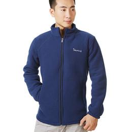 polar fleece jackets men 2018 - Mens Winter Warm Polar Fleece Jacket Outerwear Male Thick Fleece Jackets Windbreaker Coats 2017 New Plus Size 4XL