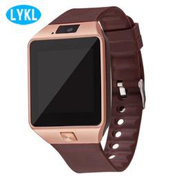 телефоны с несколькими sim картами Скидка LYKL DZ09 Smart Watch Sync Notifier поддержка SIM-карты TF Smartwatch поддержка нескольких языков Smart Electronics для Android телефонов