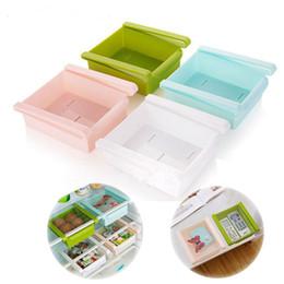 cajas de almacenamiento de refrigerador Rebajas Refrigerador de plástico Rack de almacenamiento Nevera Congelador Estante Cajones extraíbles Organizador Ahorrador de espacio Cajas de almacenamiento