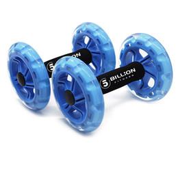 par de ruedas Rebajas 5 -Billion 1 Pair Ab Rollers de ruedas con ruedas dobles Máquina de cintura abdominal -Push -Up Stands Bar Muscle Exercise