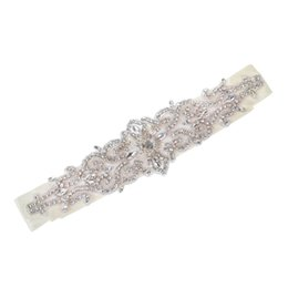Wholesale Vintage Rhinestone Belts - Vintage Handmade Crystal Rhinestones Wedding Dress Bridal Sash Belt NEW