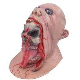 horrible costumes Coupons - Halloween Zombie Head Horrible Mask Theme Costume Accessories Men Funny Party Stage Cosplay Pranks Headgear Free Shipping