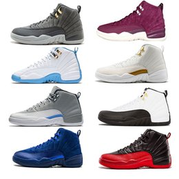 Wholesale sneakers knee - basketball shoes 12 sneaker 12XI skill Royal Mens basketball shoes Taxi the master ovo white black good game 12s sneakers gift trainers knee