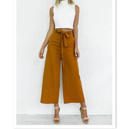 Wholesale Loose Trousers For Women - 2017 Spring Summer Fashion High Waist Wide Leg Pants Female Plus Size Loose Casual Ankle-length Pants Trouser For Women