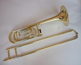 2019 trombón 2018 New Arrivals Tenor Trombone Tono de instrumento B-F Gold Lacquer Performance para principiante instrumentos musicales de latón
