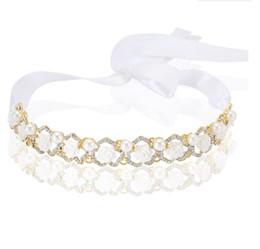 2018 Ornement de tête de la mariée coréenne, perceuse à eau Ceinture en poils de fleur de perle, accessoires haut de gamme en alliage de couronne de mariée. ? partir de fabricateur