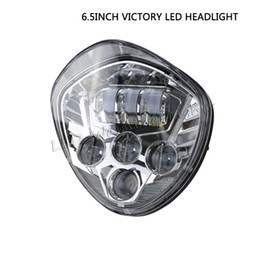 Wholesale cruiser ship - Free shipping 10pcs 6.5inch 60W Victory motorcycle LED headlight 4x4 offroad Road Cruiser series hi low beam For Cross-Country 2010-2016