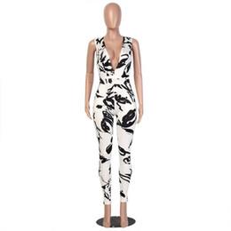 Wholesale Wholesale Clubwear For Women - Wholesale- 2017 Summer Bodycon Jumpsuit Long Bodysuit Women Cocktail Clubwear Jumpsuit Bodysuit For Women Ladies Macacaos Femme
