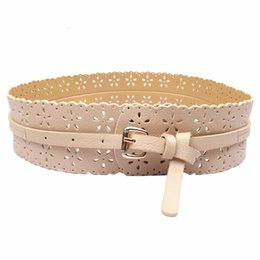 leather flower belts Coupons - 2018 Amazing Womens Fashion PU Leather Lady Hollow Flower Waist Belt Waistband for Women Apparel Accessories