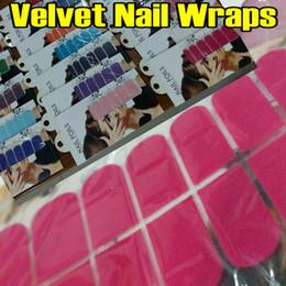 20шт бархат дизайн смешанный цвет ногтей обернуть обертывания ногтей наклейки полная полоса наклейка украшения полосы для натуральных / накладных ногтей советы новый от