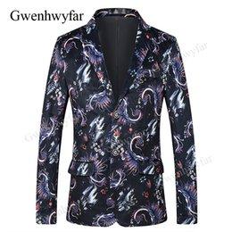 Gwenhwyfar Élégant Violet Motif Floral Hommes Casual Blazer Hommes Costume Veste Gentleman De Mariage Grooms Slim Fit Mode Manteau Outfit ? partir de fabricateur