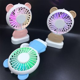 Wholesale Force Wind - Outdoor Creative Mini USB Rechargeable Electric Toy Fan Summer Adjust Speed Mute Large Wind Force Portable Handheld Fans 27yr W