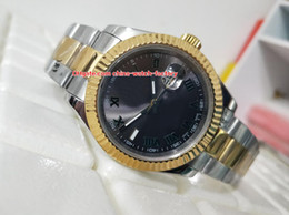 Wholesale watch roman gold - Luxury High Quality Watch 40mm Datejust 116333 Roman Dial 8k Yellow Gold & Steel Asia 2813 Movement Mechanical Automatic Mens Watch Watches