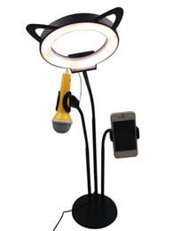 Gusslicht online-Online-Promi-Live-Stream Licht Selfie-Ring Besetzung Fülllicht Rechter Schuss Mikrofon Handyhalter Artefakt für Mobiltelefon