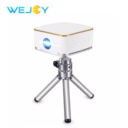 Wholesale mini home theater system - Wejoy Mini LED Projector DL-S8+ Android 6.1 System Pocket Portable Pico Mobile Phone Projectors DLP Beamer WiFi BT Home Theater
