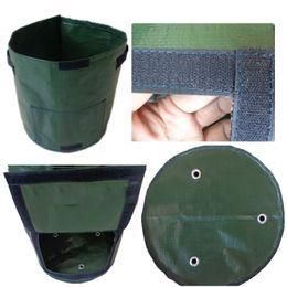 2019 vasi da finestra Riutilizzabile Round Plant Pouch Pots Vegetables Grow Bag Con finestra Aeration Container Portable Garden Supplies Pot New 7 8xs Z sconti vasi da finestra