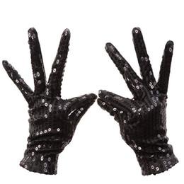 2018 Women Gloves Festival Sparkle Sequin Wrist Gloves for Party Dance Event 2018 Shining Wrist Female Mitten от