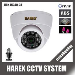Wholesale Indoor Dome Camera Audio - HI3516C+ Sony IMX323   OV2710 HD 1080P 24pcs IR leds IP Dome Camera with audio ONVIF indoor IR-CUT Night Vision Plug and Play
