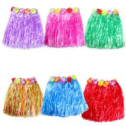 robes de hula Promotion Enfants Enfants Adultes Wahine Hula Hustle robe plage robe de danse halloween spectacle de scène performance jupe HC18