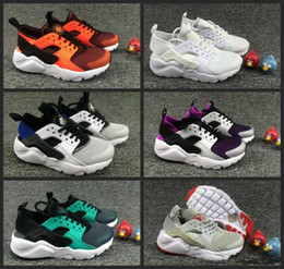 Wholesale Shoe Laces Light Kids - 2018 Air Huarache Ultra Running Shoes kids sport White Children Huaraches huraches Designer Hurache Casual trainers Running Sneakers 28-35