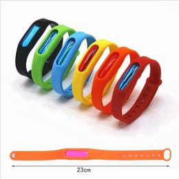 Schädlingsbekämpfung armband online-Anti Mosquito Pest Insect Wristband Silikon Repellent Repeller Wrist Band Armband Schutz Safe Bracelet Pest Control
