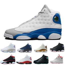 polyester cotton hot Promo Codes - Hot New 13 13s mens basketball shoes Hyper Royal Flints Bred Brown He Got Game sneakers women sports trainers running shoes for men designer