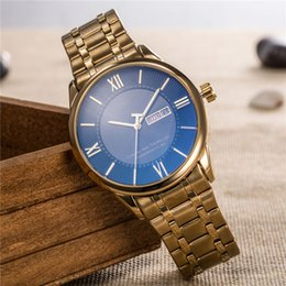b1deeda0302 Relogio masculino relógios designer mens marca de moda de luxo relógio  homens relógio de pulso de ouro automático duplo calendário dia data roma  mestre ...