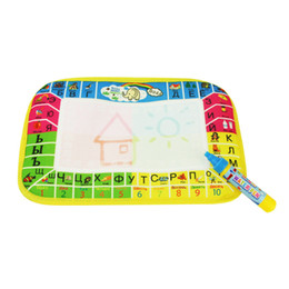 Wholesale Musical Pen - 29X19cm Mini Size Drawing Board Water Doodle Mat Russian Water Drawing Board with 1pcs Magic Pen Cultivate Child's Creativitity