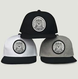 Wholesale Eyes Hat - Round Triangle Eye Snapback Caps Women Adjustable Baseball Cap Snapbacks Flat Peak Hip Hop Hats Ball Caps OOA5032