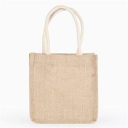 Верхние пляжные сумки онлайн-TOP Quality Fashion Women Girls Stripe PVC Linen Fabric Reusable Shopping bags Beach Bag Handbag 2018