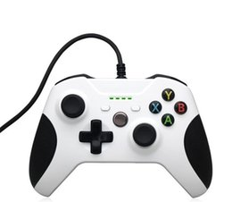 Microsoft pc juego controlador online-Controlador conectado con alambre del USB de la venta caliente para Xbox One S Video Game Mando para Xbox One Slim Controle Jogo PC Gamepad de Windows