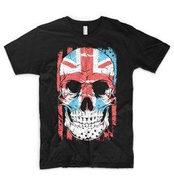 d174fc2bd6 Union Jack Camiseta Bandeira Reino Unido Crânio Anarquia Punk Grã-Bretanha  Inglaterra Londres