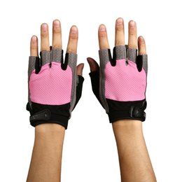 Aolikes Resistente Resistente Pad Tessuto in mesh traspirante Formazione Sport Gym Guanti Fitness Hand Wearing Glove + Wrist Buckle da