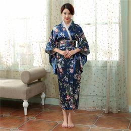 marino mujer Kimono 'Vestido de azul Vintage para 2019 japonés japoneses vestidos mujer para baño 0qEzxEwXR