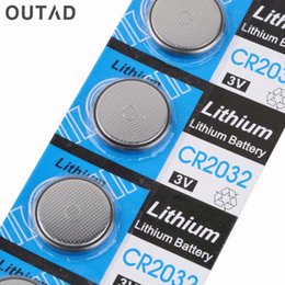 Lithium watch battery онлайн-OUTAD 5pcs 3V CR2032 Coin Battery for Watches Button Cell Lithium Clocks High Capacity LI-ION