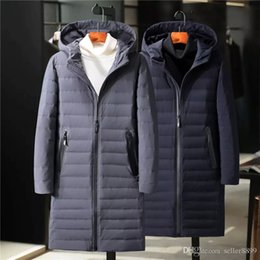 9f9f641604 Mens Long Down Jacket Snow Coat Men White Duck Down Parkas Hoodies Warm  Winter Clothes Thick Outwear Windbreaker Man Brand Clothing A8009