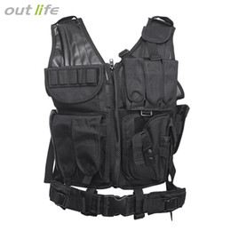 Outlife Tactical Paintball Swat Assault Caza Molle Chaleco con funda Caza Molle Chaleco con funda al aire libre Camouflag desde fabricantes