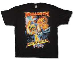 design shirts sell Promo Codes - Megadeth Rattlehead Race Death Vic Image Black T Shirt New Official Cool T-Shirts Designs Best Selling Men For Male Boy Tshirt