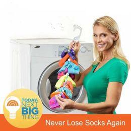 Wholesale Hangs Closet - Sock Organizer Easy Clips Locks Paired Socks Laundry Locks Paired Socks in Closet Hanging Laundry Organizer DHL Free Shipping