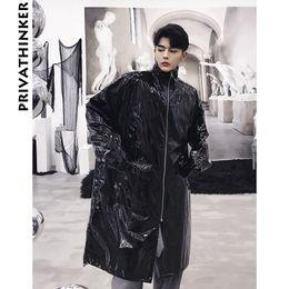 schwarze grabenmänner Rabatt Reflektierende Trenchcoat Men Designer 2018 Mens lange Jacke Windbreaker schwarzen Mantel männlichen koreanischen Mode Winter Outwear