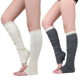 d984da3e7 Long Knit Knee Lace Socks Boot loose Socks Stockings Leg Warmers Warm for  Women Chritsmas Gift Drop Ship 010030