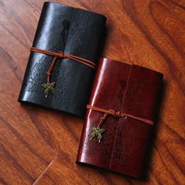 Koreanische notizbuchjournal online-Koreanische kreative klassische Soft Cover Kraft Schmetterling Strap Notebook Reisenden Journal Tagebuch Buch Geschenk Student Bürobedarf