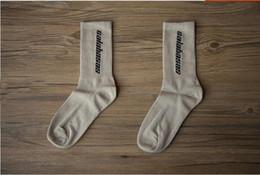Wholesale knit ankle socks - 3 Colors Calabasas Crew Socks Cotton Kanye West Men Women Socks Casual stockings Skateboard Stockings