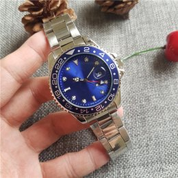 Wholesale Couples Watch White - relogio masculino mens watches Luxury dress designer fashion Black Dial Calendar gold Bracelet Folding Clasp Master 44mm gifts couples