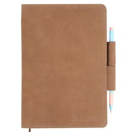 Canada Cahier en cuir naturel 100% Véritable Notebook en cuir Fournitures scolaires Journal Handmade School Vantage Style Offre