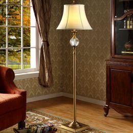 Wholesale Glasses La - Nordic American minimalist retro crystal floor lamp living room coffee table, standing lamp study bedroom floor la