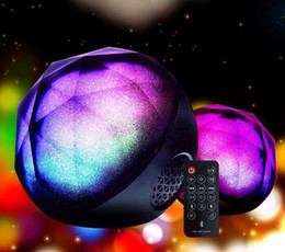 Wholesale Mini Bluetooth Speaker Ball - 2018 new color ball crystal magic ball wireless Bluetooth speaker card mini mobile phone subwoofer Bluetooth audio QX 04