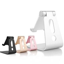 Wholesale Mixing Desks - Aluminum Metal Mobile Phone Tablet Desk Holder Stand for iPhone Samsung Cellphone Desk Stand For iPad iPhone Holder