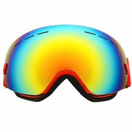 f4a81b2e565 2018 New Ski Goggles UV400 Spherical Eye Protection Ski Mask Glasses Skiing  Men Women Windproof Snow Snowboard Goggles Eyewear