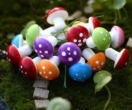 50pcs 3cm misti di colore misto fungo paesaggio accessori per la decorazione di casa giardino torta mestiere scrapbooking fai da te da
